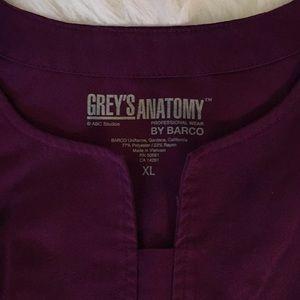 Grey's Anatomy Tops - Grey's Anatomy Ladies Scrub Top in Purple